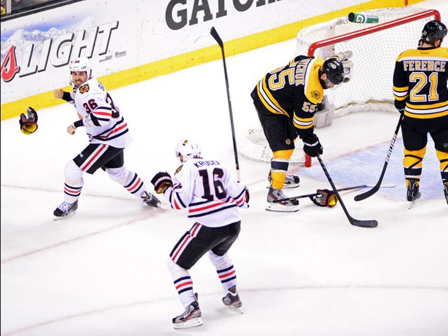 Bolland scored the game-winner 17 seconds later to place the game among the league's most dramatic late-game comebacks in Stanley Cup history. 44601