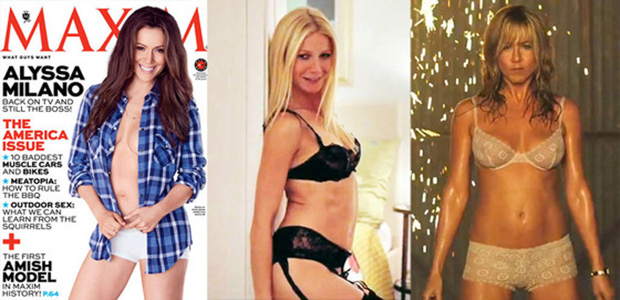 Gwyneth Paltrow in Lingerie, Alyssa Milano Braless and More Stars Sexy After 40 44772