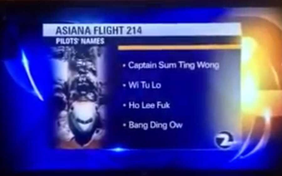 The NTSB Fired the Intern Who Confirmed Fake Asiana Pilot Names 45230
