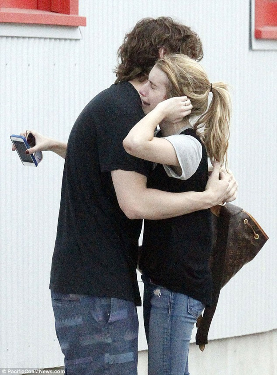 Sobbing Emma Roberts clings to Evan Peters as details emerge of their 'extreme' relationship in wake of domestic violence arrest 45273