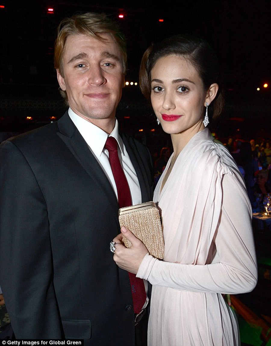 Emmy Rossum has reportedly split with her co-star Tyler Jacob Moore, seen here together in Febuary 45286