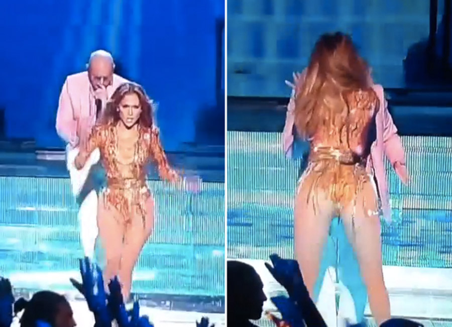 J.Lo Shakes Sizzling Booty For Pitbull - Watch Video Here! 45317
