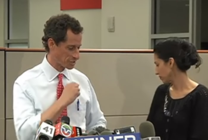 "Anthony Weiner and Huma Abedin Address New ""Carlos Danger"" Sex Scandal 45401"