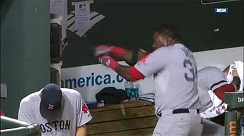 David Ortiz smashes dugout phones after ejection 45469