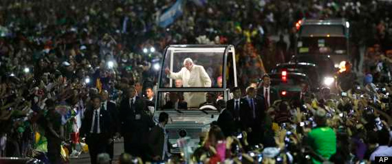 Pope Francis In Brazil Draws Millions For Vigil 45528