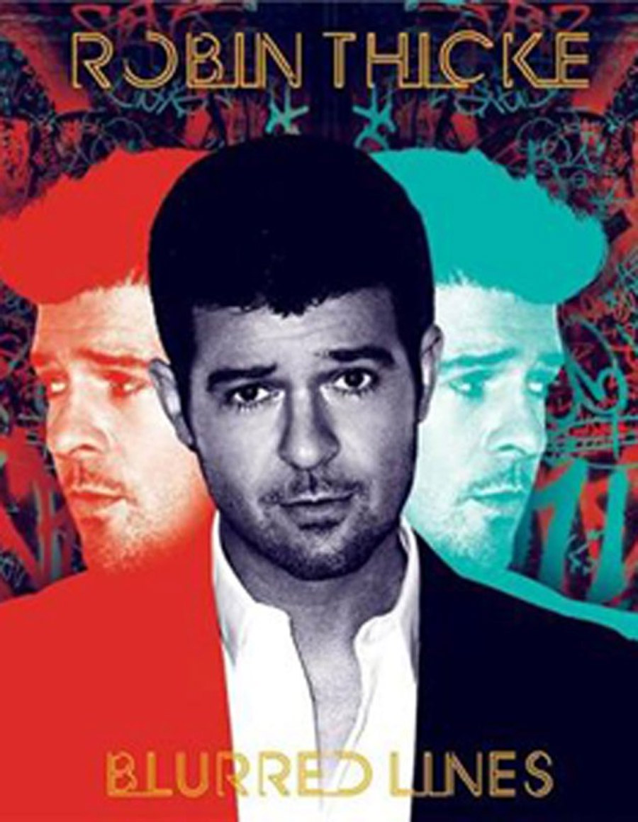 Robin Thicke's magic crystal clear with blurred lines 45557
