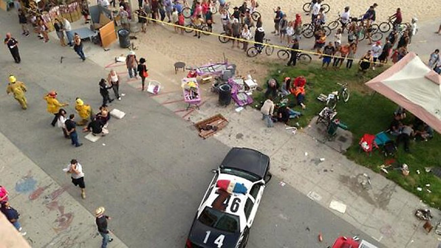 Car drives into crowd at Los Angeles' Venice Beach, one dead, 11 hurt 45751