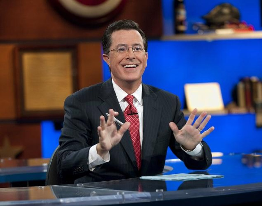 """Daft Punk, the French musical duo, did just that for their scheduled appearance on """"The Colbert Report"""" on Tuesday. 45844"""