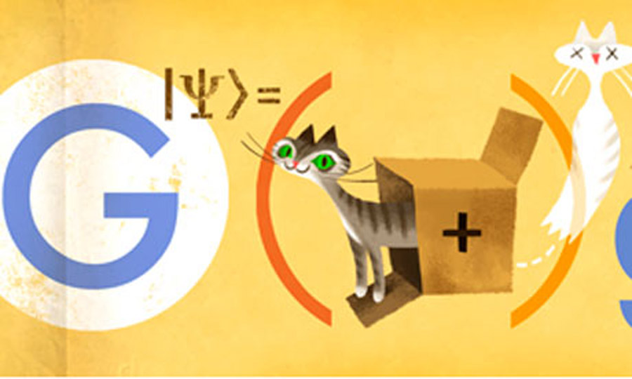 Physicist Erwin Schrödinger's Google doodle marks quantum mechanics work 45942
