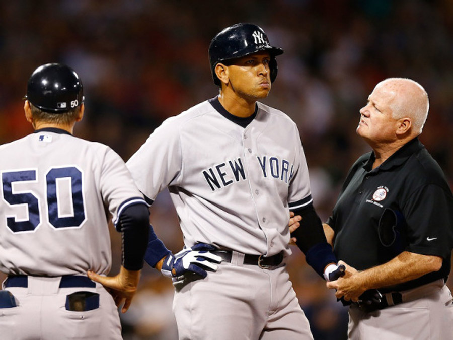 Angry scene erupts as Yankees' Alex Rodriguez hit by pitch from Red Sox starter Ryan Dempster 46135