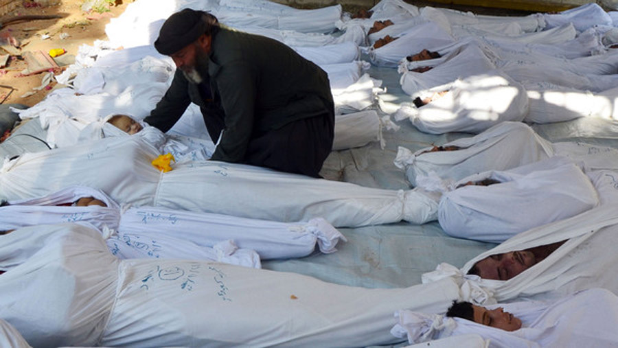 Syria opposition claims hundreds die in chemical attack 46177
