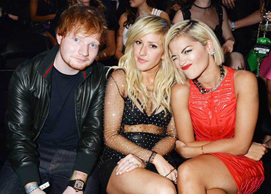 Ellie Goulding, Ed Sheeran Hold Hands at the 2013 MTV VMAs 46349