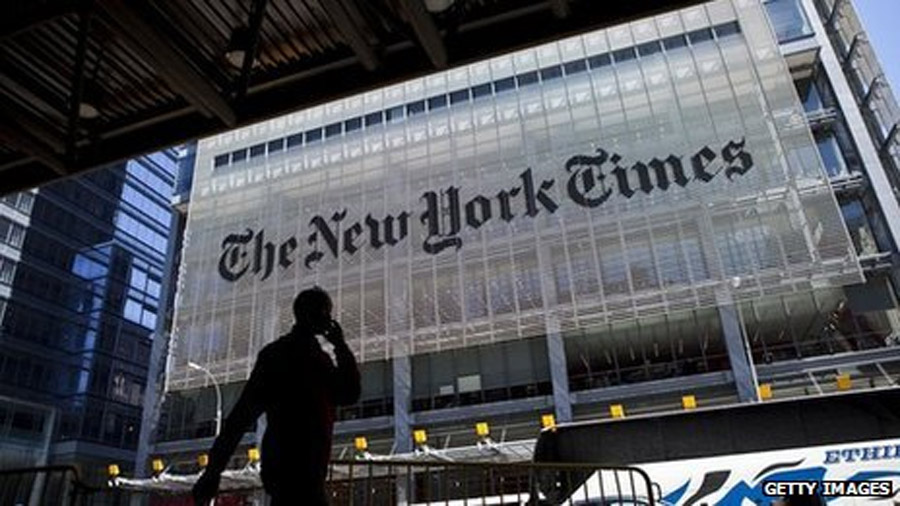 New York Times website down after suspected hacking 46353
