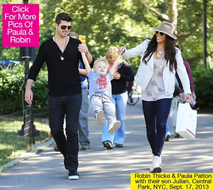 Paula Patton & Robin Thicke Take Son Julian To Park For Fun Playdate 46533