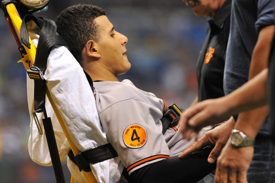 Manny Machado injury: Orioles 3B carted off due to apparent knee injury 46650