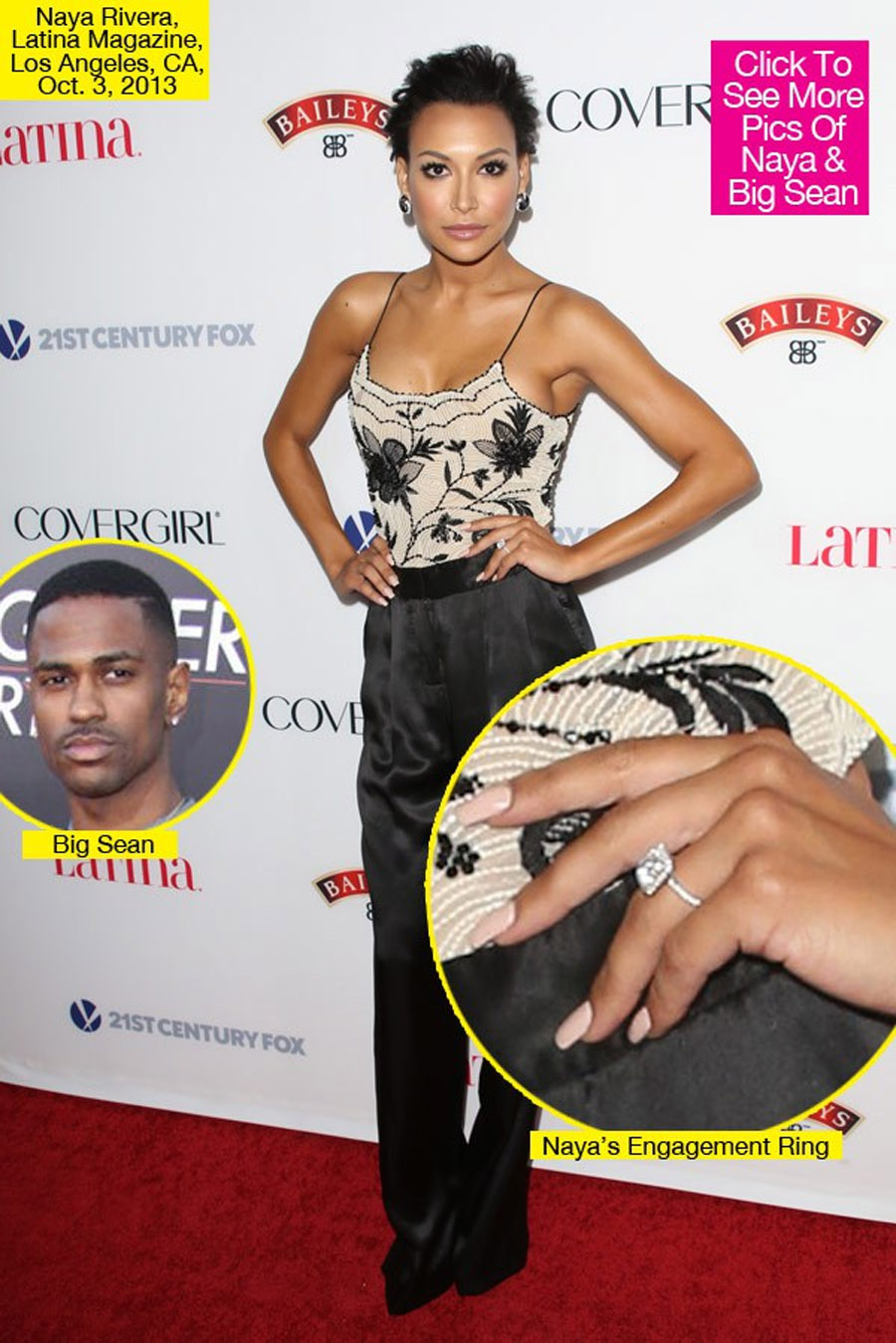 Naya Rivera Engaged to Big Sean: See Her Diamond Ring 47086