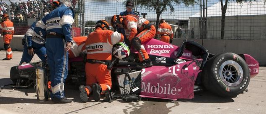 Dario Franchitti involved in crash at Grand Prix of Houston 47146