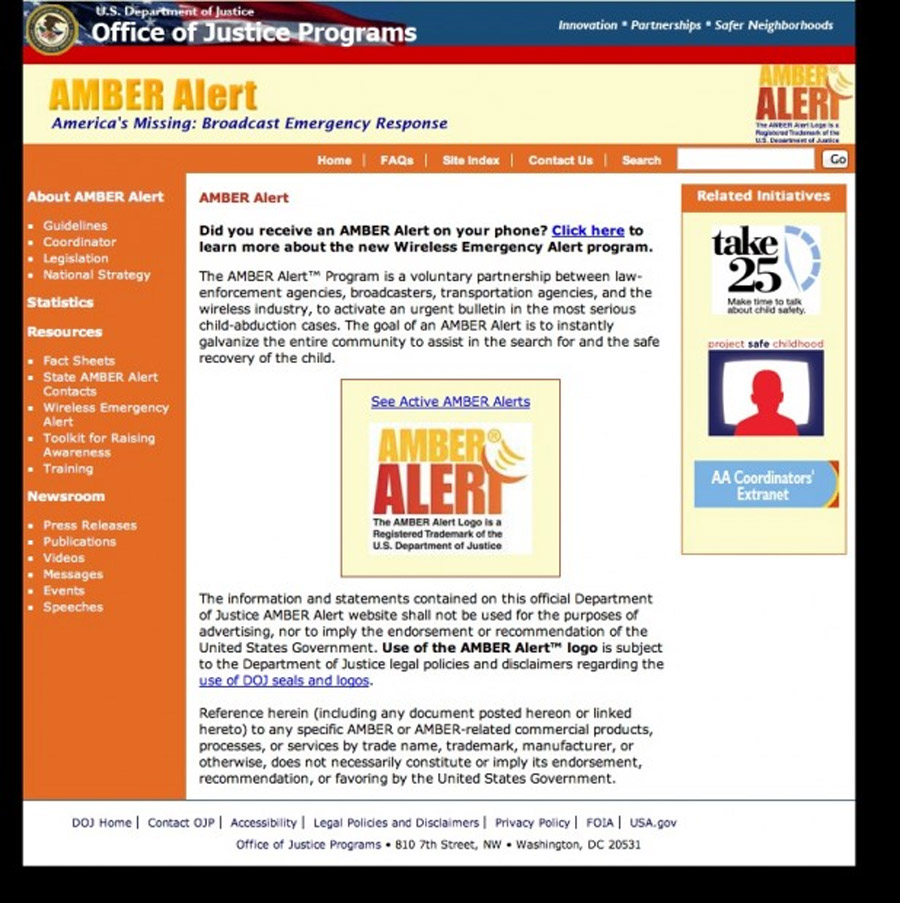AMBER Alert Website Goes Offline Amid Government Shutdown, Michelle Obama's 'Let's Move' Website However 47168
