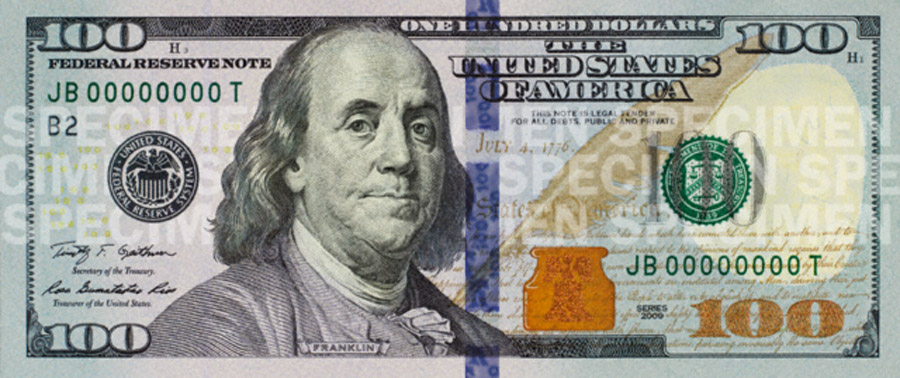New $100 bills to start circulating tomorrow 47189