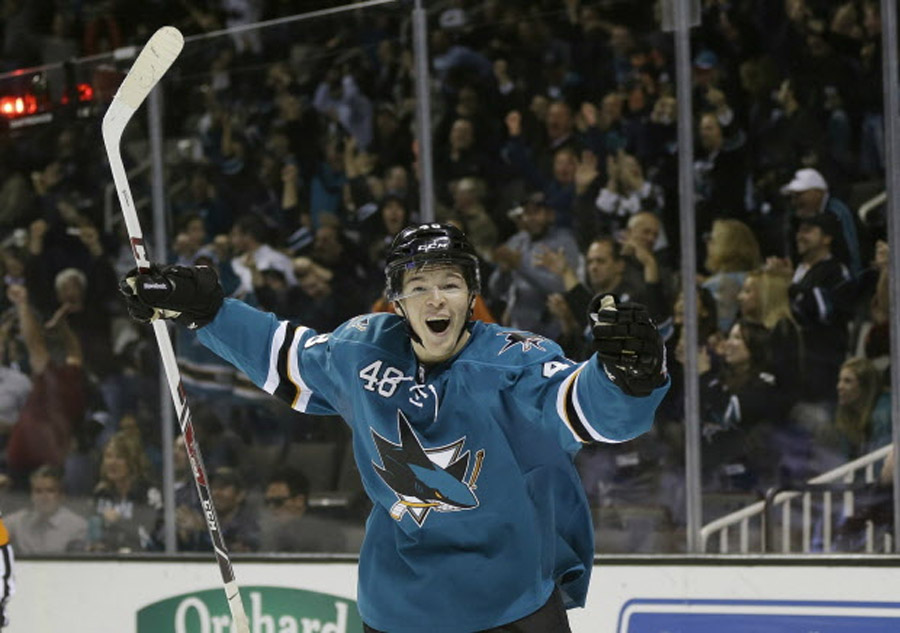 Tomas Hertl, 19-year-old rookie, has 4 goals in Sharks' rout of Rangers 47223