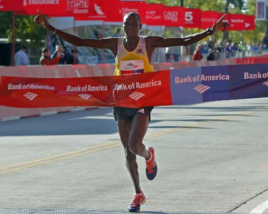 Kenyans rule Chicago Marathon: Dennis Kimetto sets course record; Rita Jeptoo is top woman 47267
