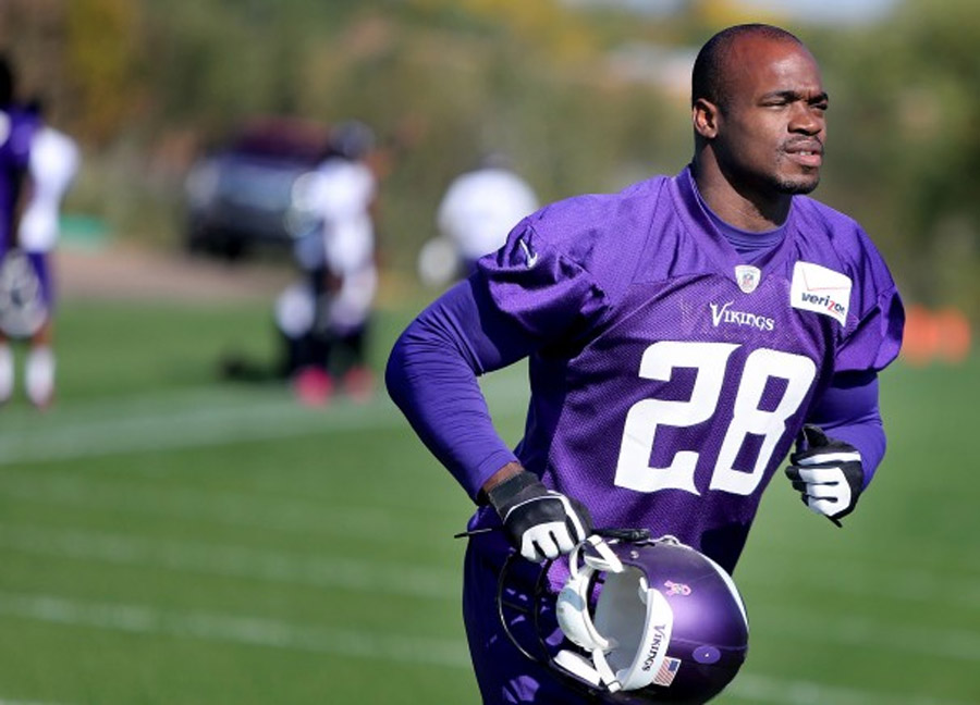 Adrian Peterson active, expected to play in Vikings-Panthers game 47281
