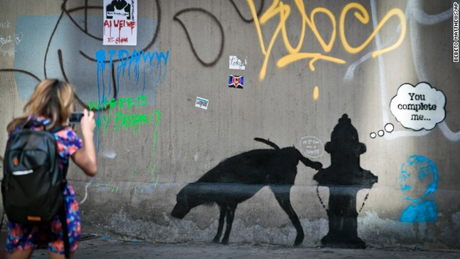 Big ticket graffiti artist Banksy said he provided the painting for $ 60 of Central Park 47302