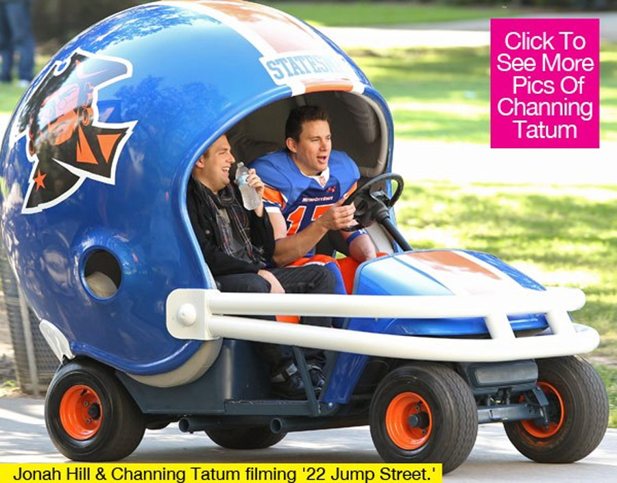 Channing Tatum Films '22 Jump Street' With Jonah Hill 47321