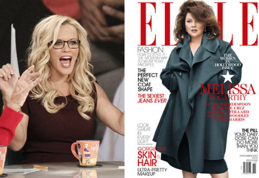 "The View ""Jenny McCarthy protective cover of Elle cousin Melissa McCarthy 47426"