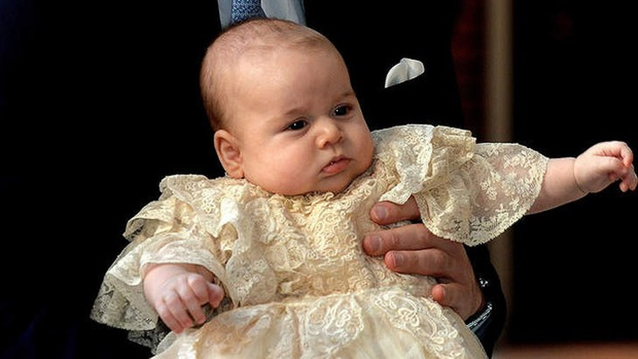 Prince George is christened during a private ceremony, steeped in history 47550