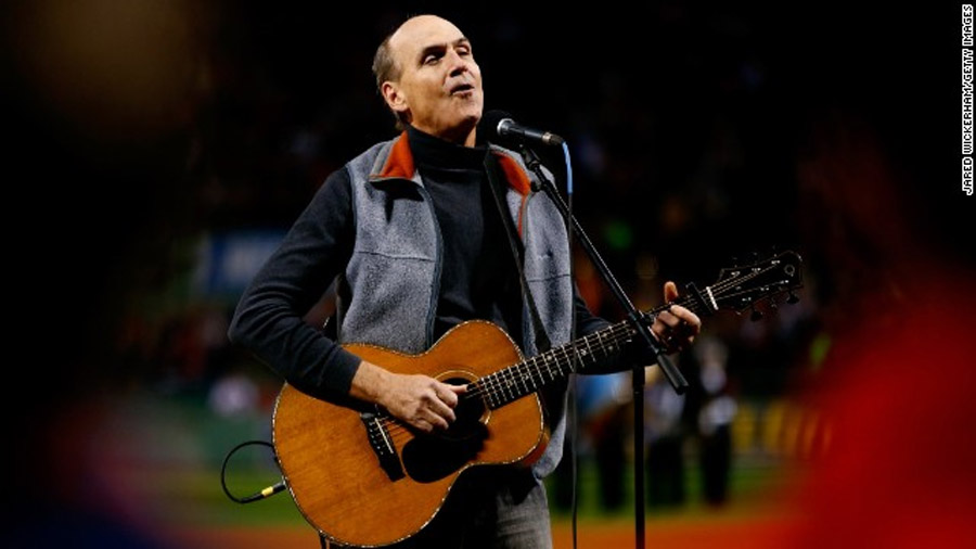 James Taylor flubs national anthem, recovers smoothly 47597