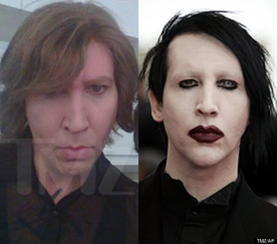 Marilyn Manson Wears No Makeup On 'Eastbound & Down' Set 47679