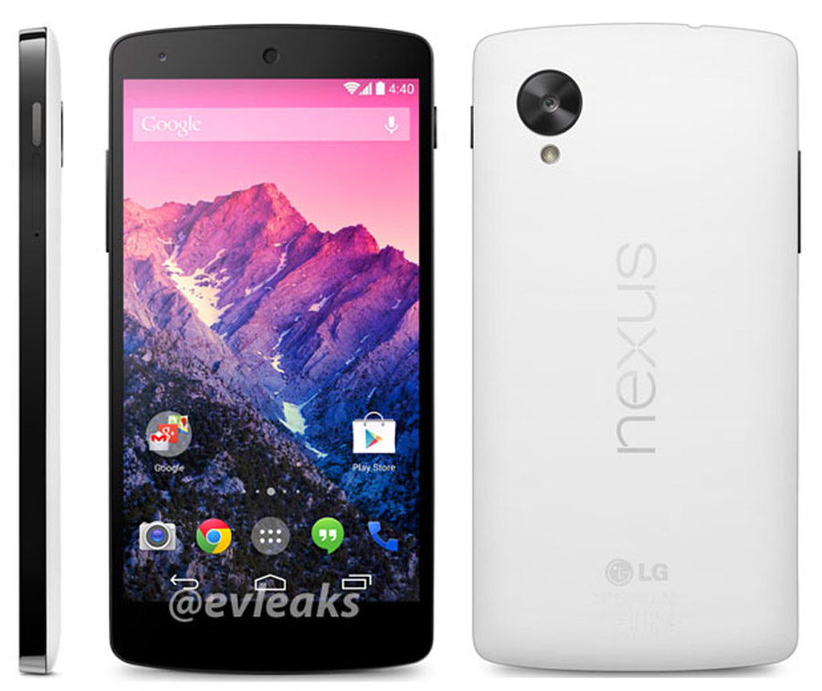 Nexus 5 reportedly due to launch on November 1st, will be available in black and white models 47765