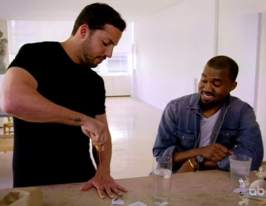 And for my next trick... I'll make Kanye West smile! David Blaine reduces rapper to fits of giggles on Real Or Magic 48154