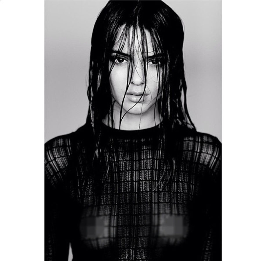 Kendall Jenner Exposes Nipples in Racy Modeling Photo—Take a Look! 48157