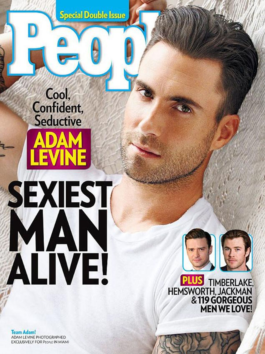 Adam Levine named 'Sexiest Man Alive' for 2013: People magazine honor announced on 'The Voice' 48174