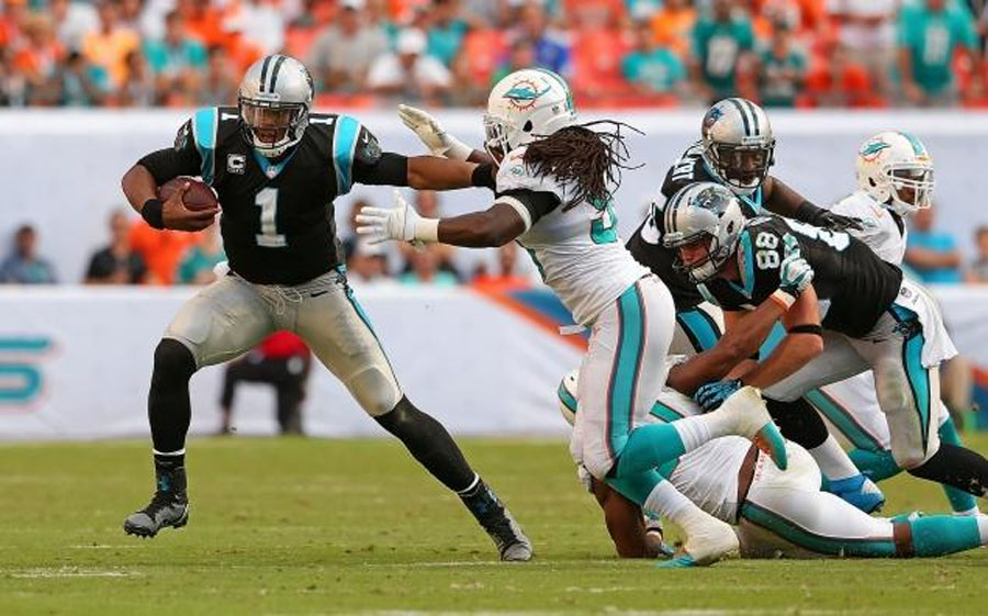 Cam Newton, Panthers make it seven wins in a row by rallying past Dolphins 48296