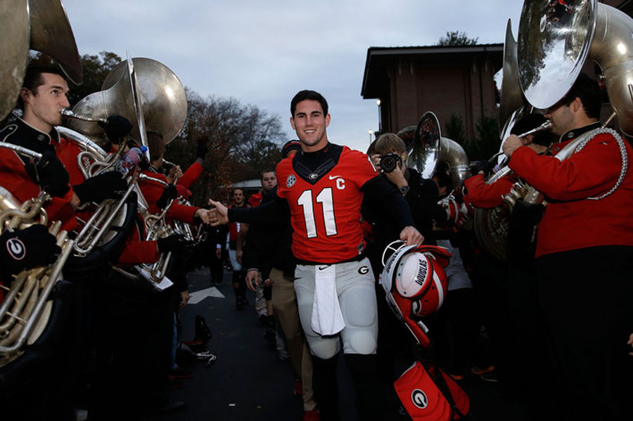 Aaron Murray Injury: Georgia QB Leaves Game Against Kentucky in Second Quarter 48308