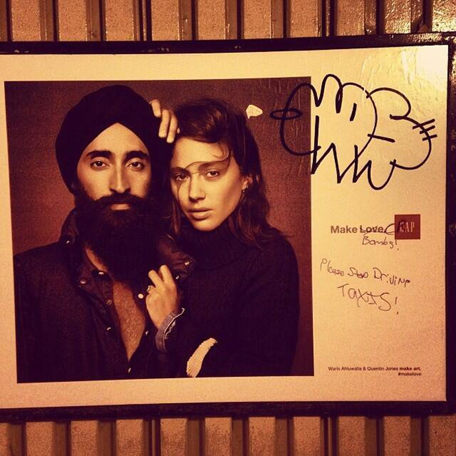 Gap Ad Featuring an Indian Model Goes Viral After Racist Vandalism 48504