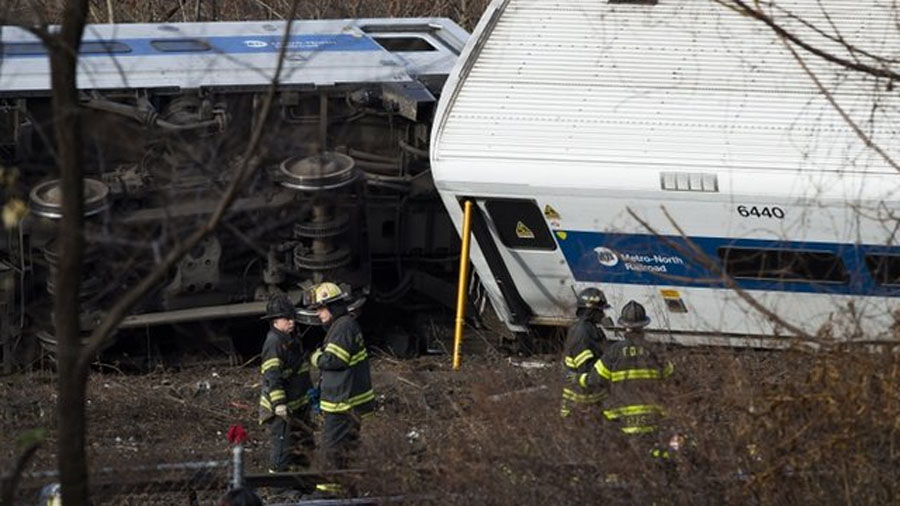 New York train crash: Metro-North derailment in Bronx 48520