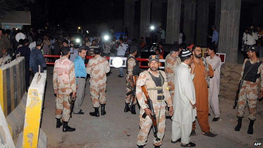 Pakistan's Express News media group office 'attacked' 48581