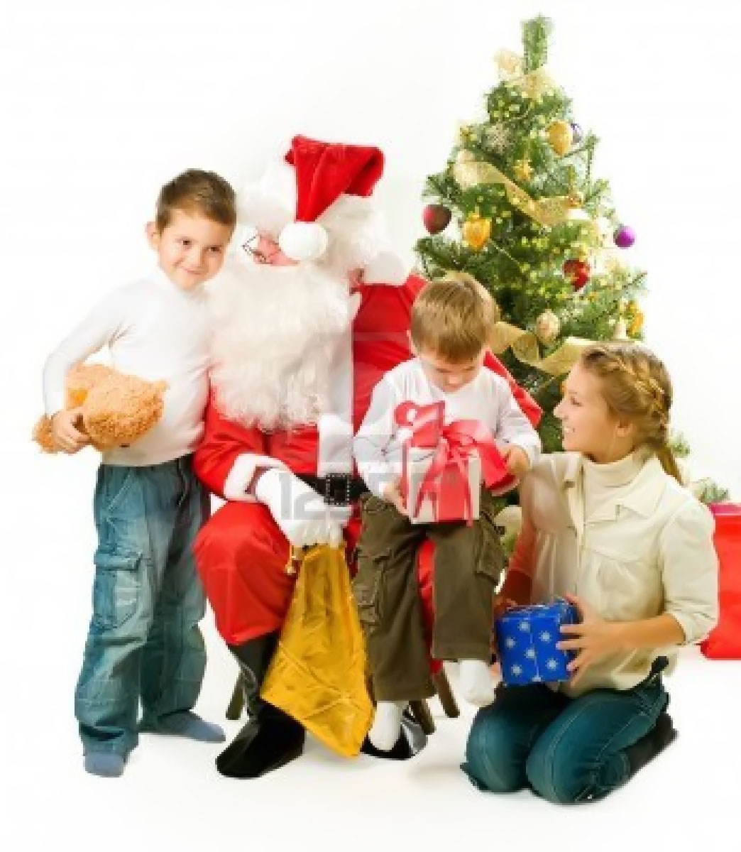 Santa Claus with children 48617