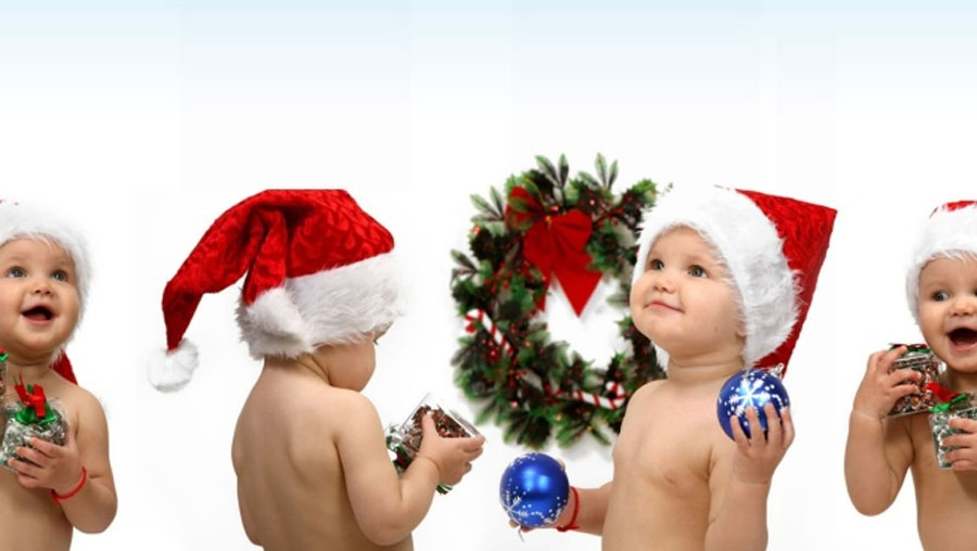 lovely baby Christmas tree party 48618