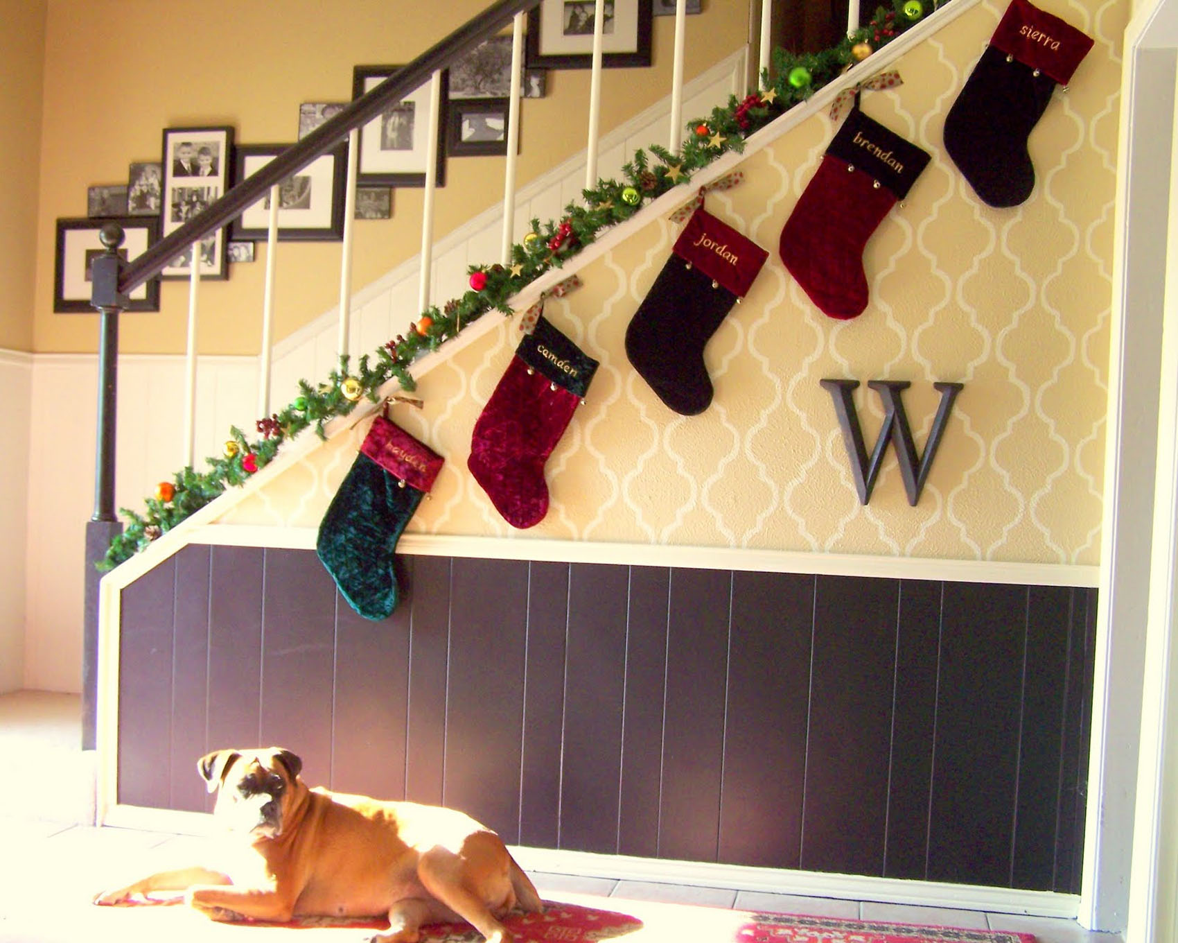 stockings to decorate your home stairs 48725