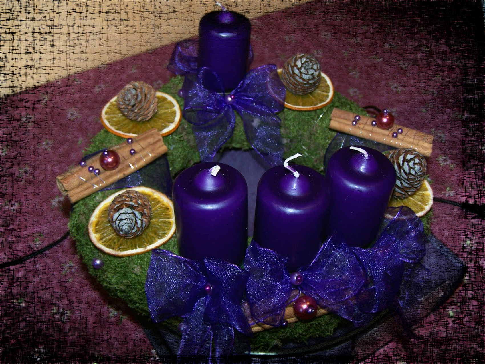 blue candles for Christmas 48733