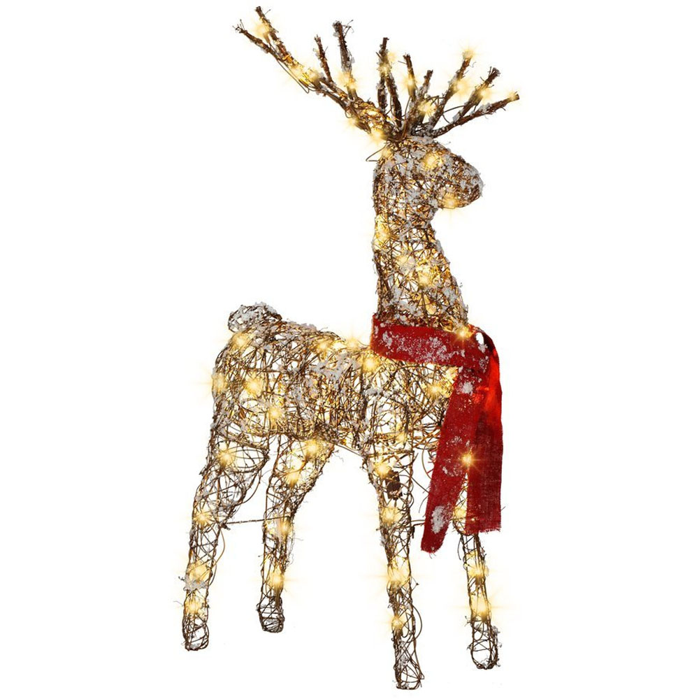 reindeer decorations add shimmer 48741
