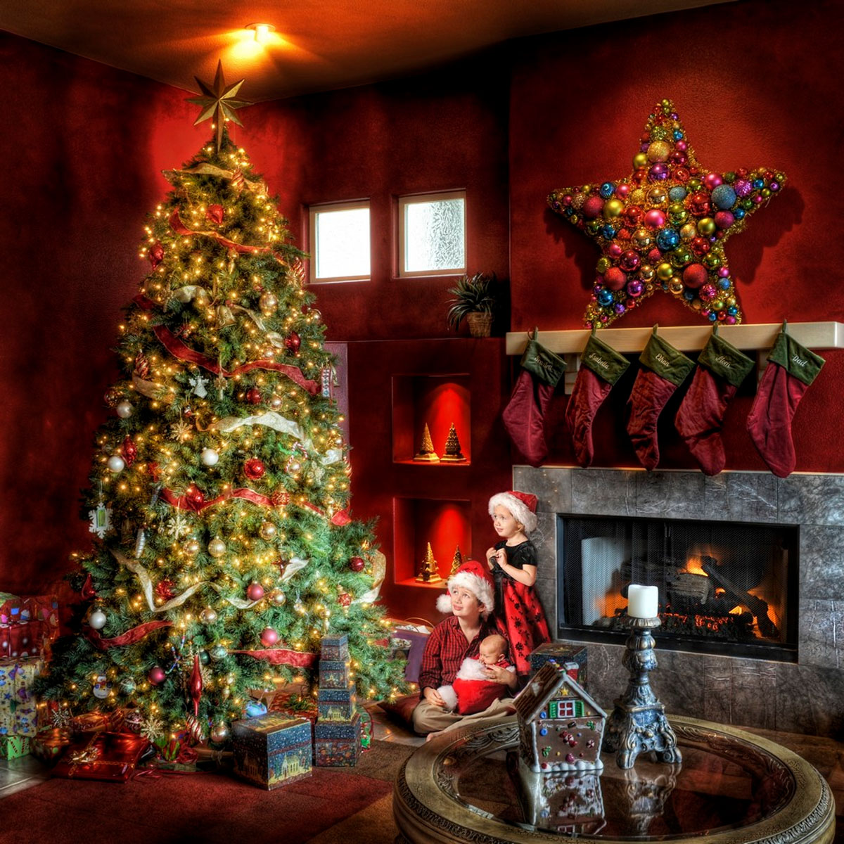 tree decorations for a small corner of your family 48759