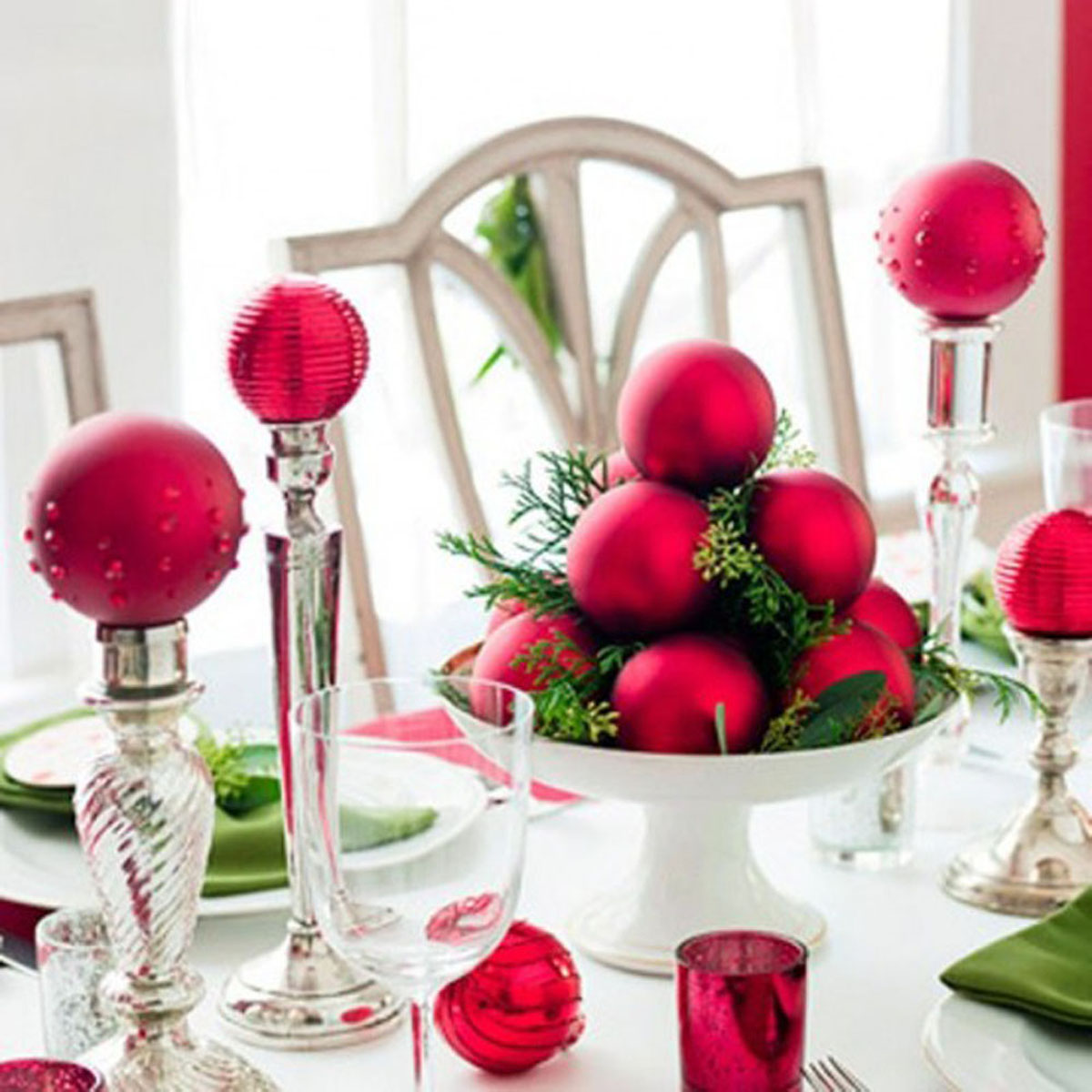 red decoration for Christmas Eve 48764