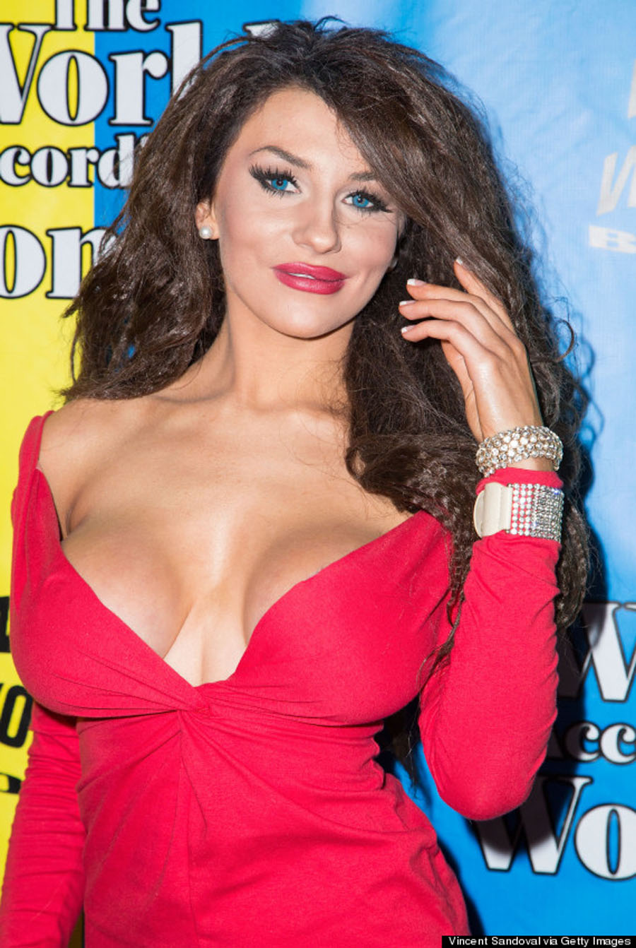 Celebrity Big Brother' Star Courtney Stodden Debuts New Brunette Locks And Almost Falls Out Of Her Dress At Awards Bash 48851
