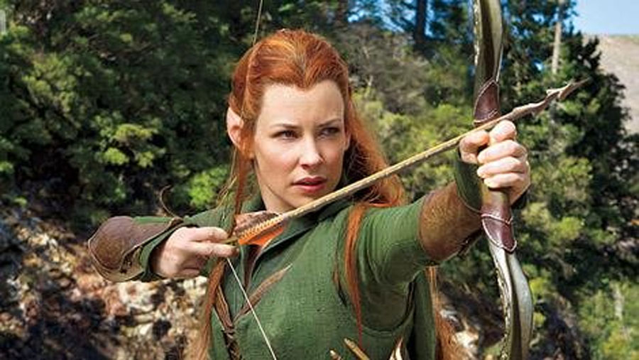 The Desolation of Smaug's Evangeline Lilly: Why Orlando Bloom is the perfect Elf and I am not 48854